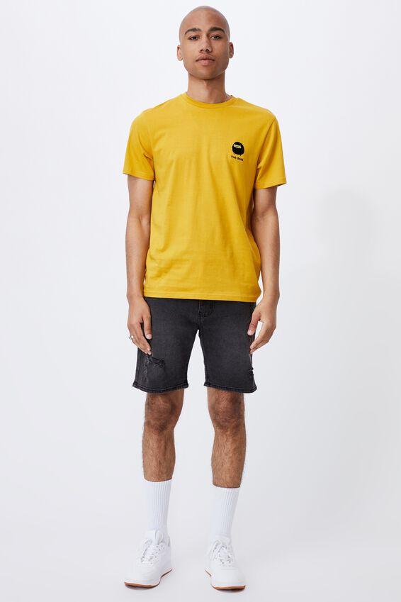 Tbar Collab Pop Culture T-Shirt, LCN IRV REGAL YELLOW/IRVINS-THE BOSS