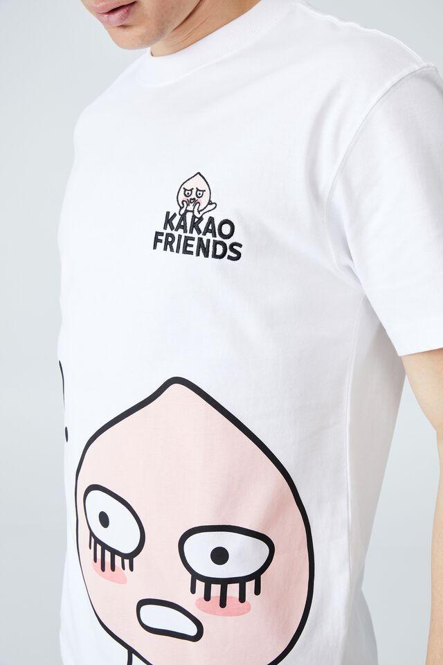 Kakao Friends T-Shirt, LCN KAK WHITE/APEACH - RELAX