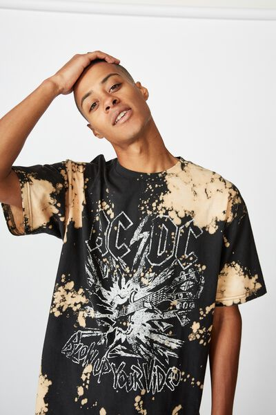 Special Edition T-Shirt, LCN PER BLACK ACDC - BLEACH SPRAY