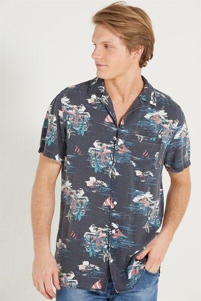 91 Short Sleeve Shirt, NAVY HAZE SLIM