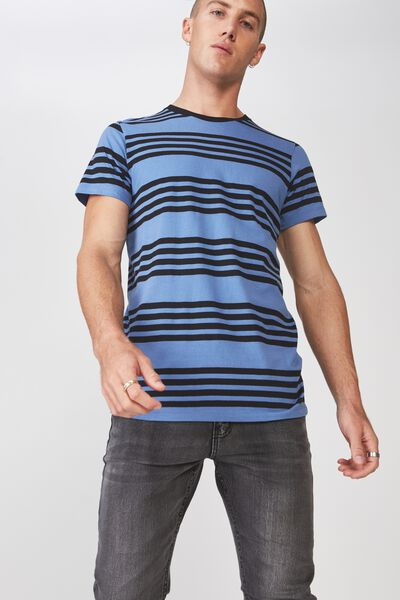 Tbar Premium Crew, RIVIERA BLUE/BLACK THICK MULTI STRIPE