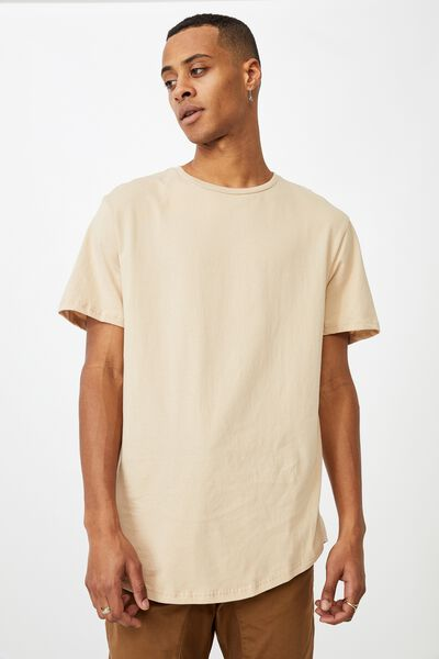 Essential Longline Scoop T-Shirt, CLAY STONE