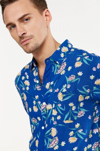 Vintage Prep Short Sleeve Shirt, POP FLORAL PRINT