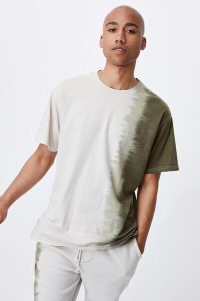 Festival T-Shirt, MILITARY/MOSS DIP DYE