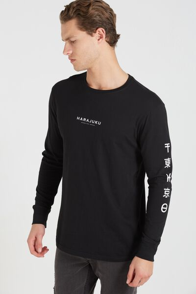 Tbar Long Sleeve, BLACK/HARAJUKU GOODS