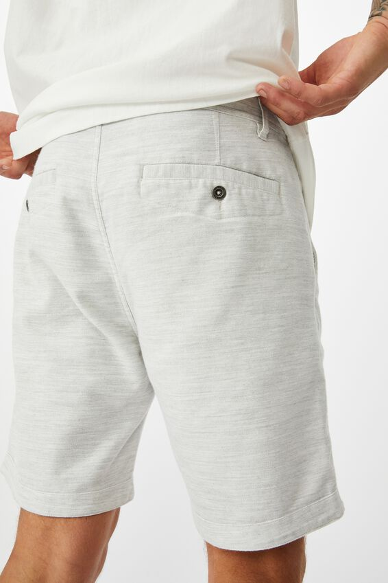 Tailored Casual Short, LIGHT GREY TEXTURE