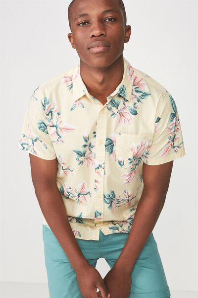 Vintage Prep Short Sleeve Shirt, JAPANESE BRANCHES