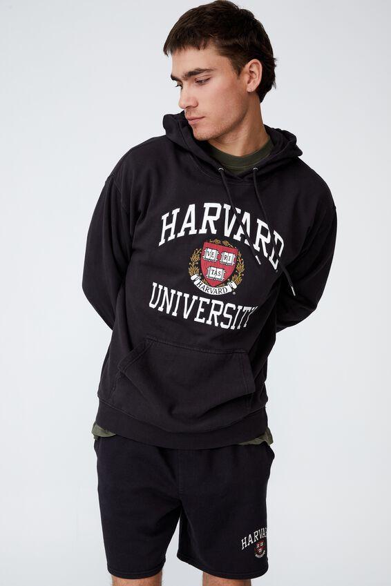 Premium Collab Fleece Pullover, LCN WASHED BLACK/HARVARD CREST