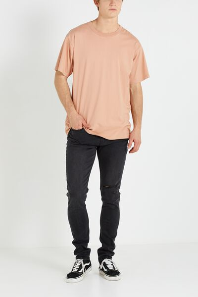 Super Skinny Jean, TRADER BLACK WITH RIPS
