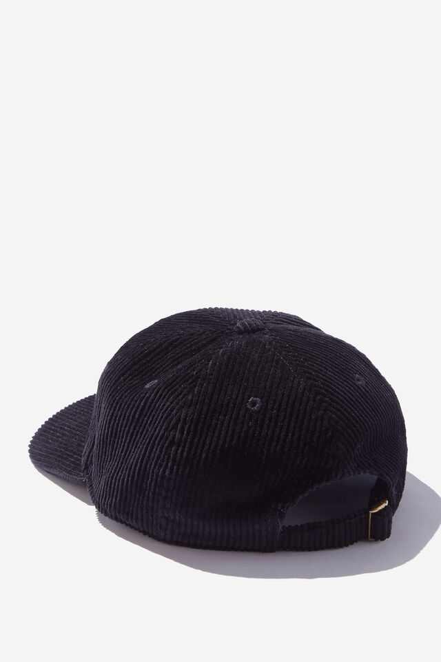 Fosters 6 Panel Hat, LCN FOS WASHED BLACK/FOSTERS LOGO