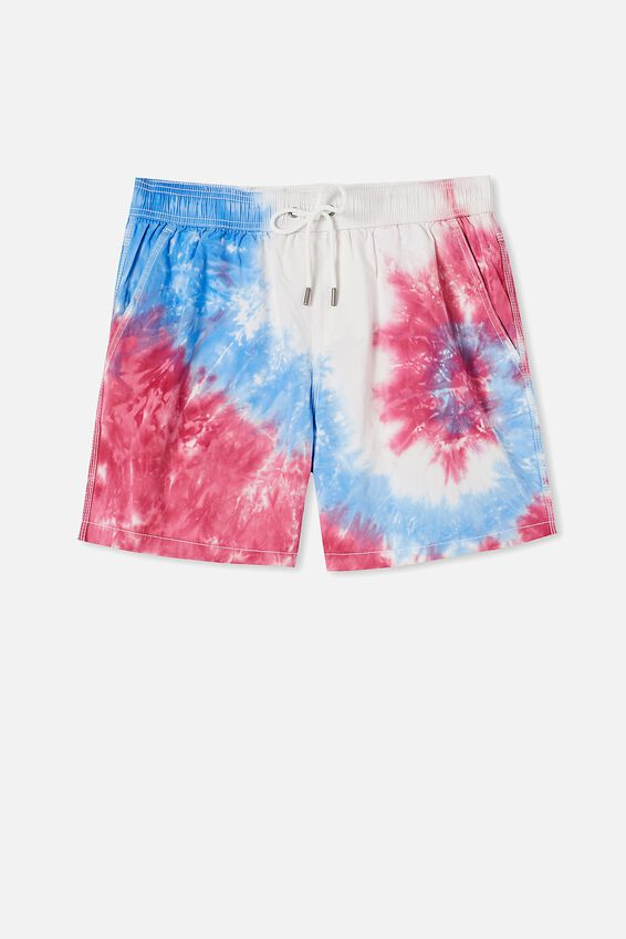 Kahuna Short, BLUE RED TIE DYE