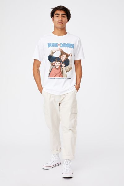 Tbar Collab Movie And Tv T-Shirt, LCN WB WHITE/DUMB AND DUMBER