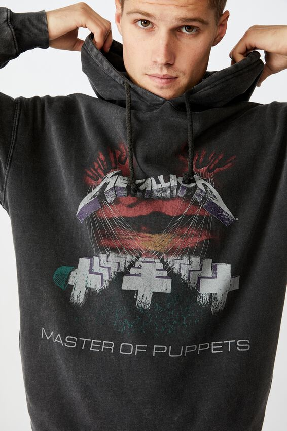 Premium Collab Fleece Pullover, LCN PRO BLACK ACID/MASTER OF PUPPETS