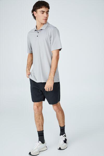Active Short Sleeve Polo, OVERCAST GREY