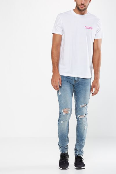Slim Fit Jean, GARAGE BLUE + RIPS