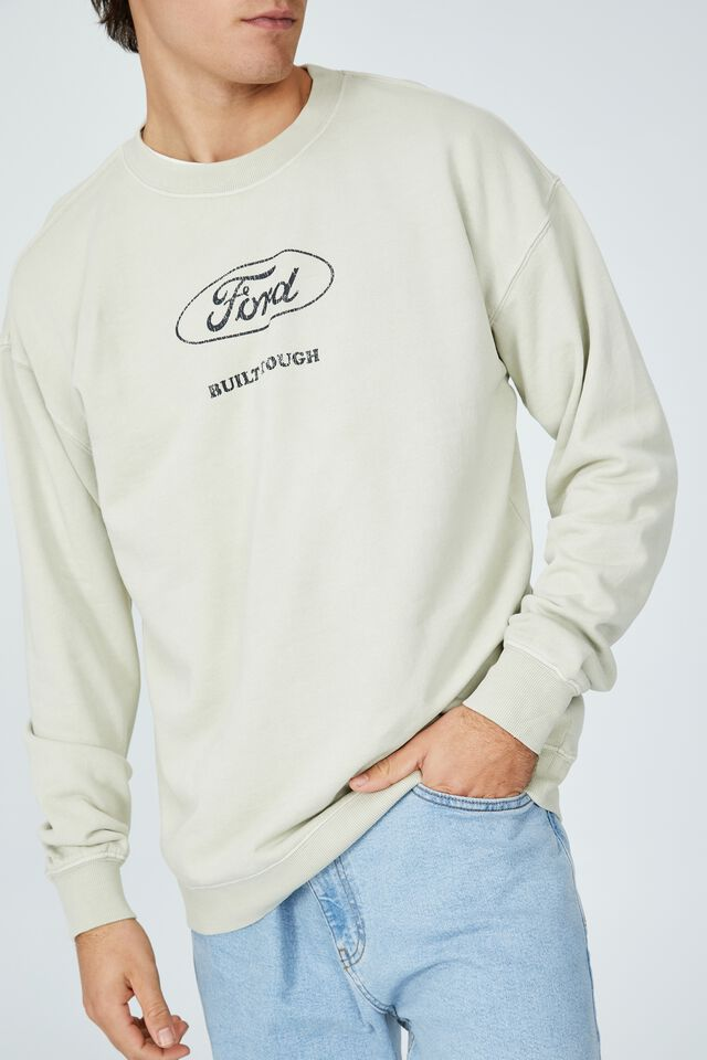 Ford Crew Fleece, LCN FOR IVORY/FORD BUILT TOUGH