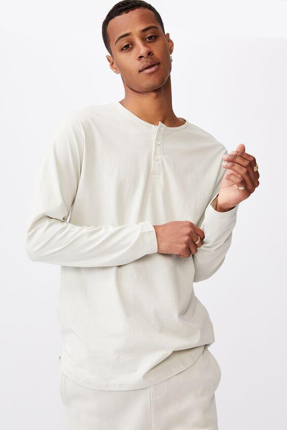 Longline Scoop Long Sleeve T-Shirt, IVORY