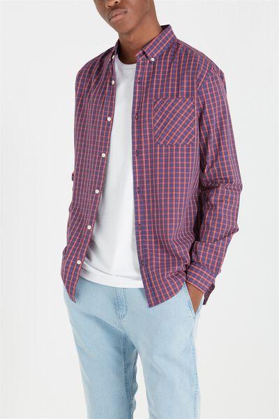 Brunswick Shirt 3, GRAPE/RED CHECK