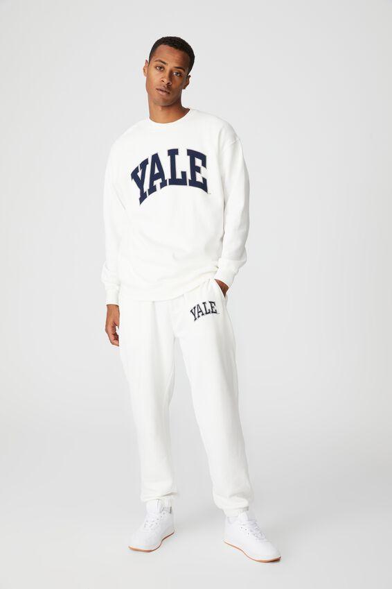 Premium Collab Crew Fleece, LCN YAL VINTAGE WHITE/YALE-VINTAGE LOGO