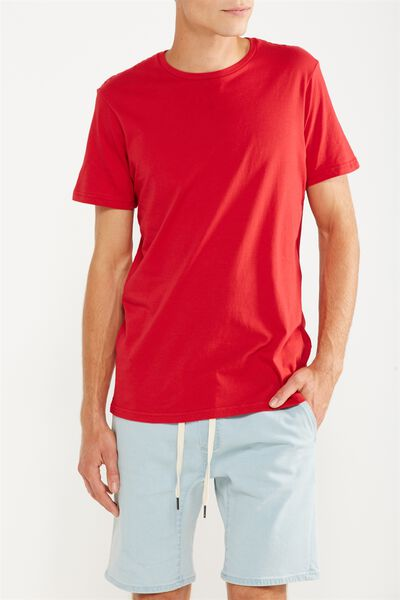 Essential Crew Tee, FIRE RED