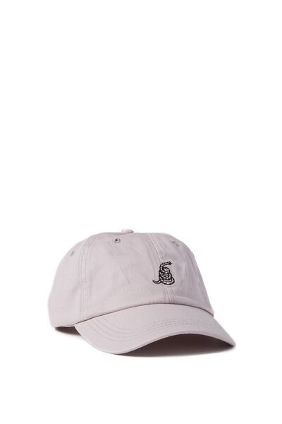 Strap Back Dad Hat, RATTLER/DUSTY LILAC