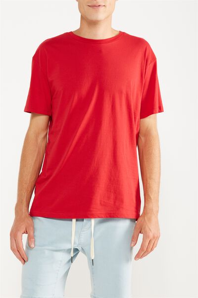 Essential Skate Tee, FIRE RED