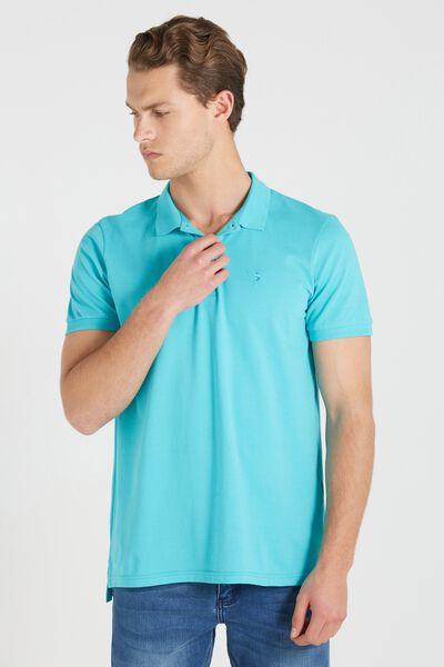 Short Sleeve Icon Polo Regular Fit, TEAL/MARLIN