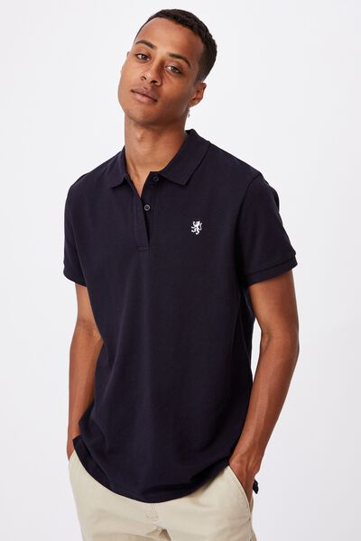 Essential Short Sleeve Polo, NAVY