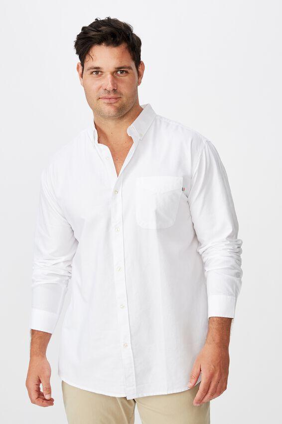 Brunswick Shirt, WHITE OXFORD