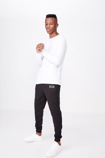 Personalised Trippy Slim Trackie, PEACHED BLACK