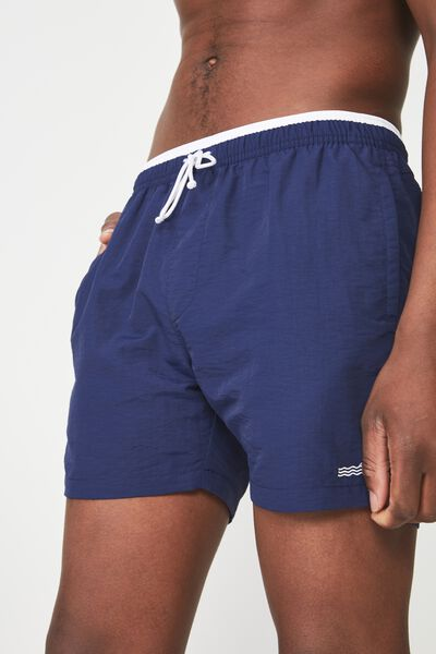 Swim Short, NAVY/WHITE TIP