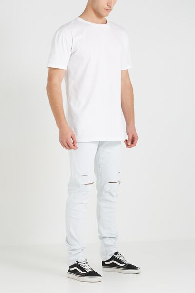 Slim Fit Jean, CLOUD BLUE RIPPED
