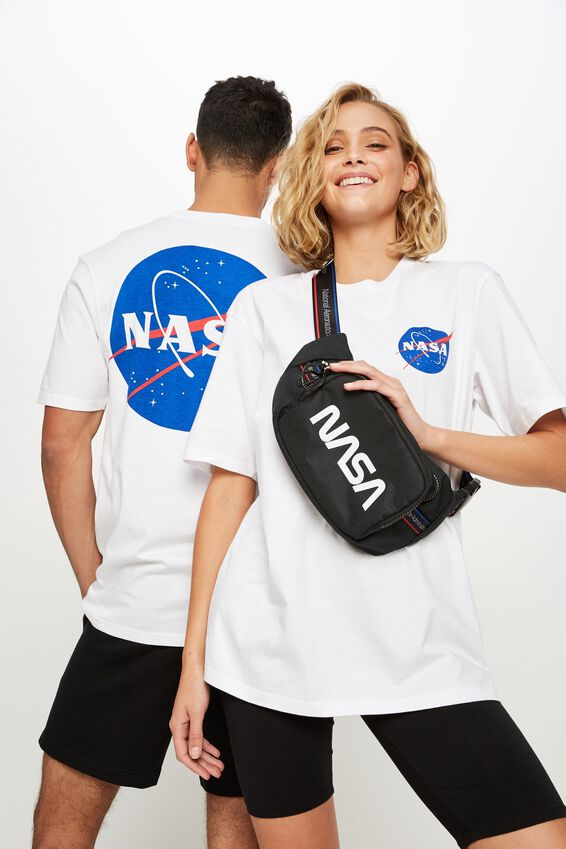 Tbar Collab Pop Culture T-Shirt, LCN NAS WHITE NASA - WORLD LOGO