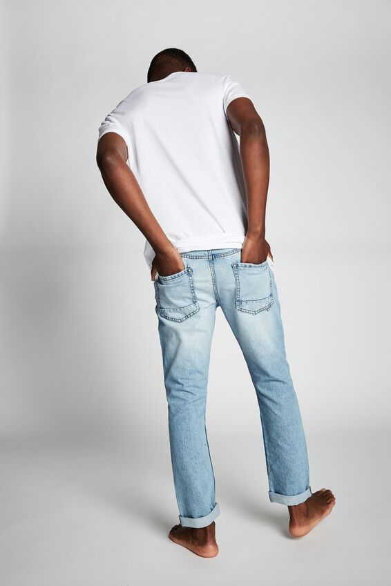 Tapered Leg Jean, VINTAGE BLUE+RIPS