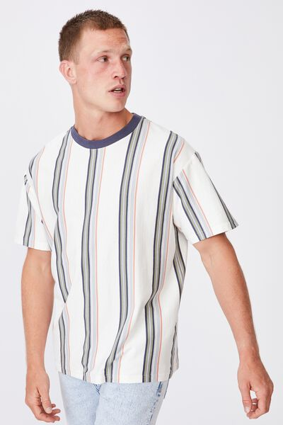 Downtown T-Shirt, VINTAGE WHITE SPACED STRIPE