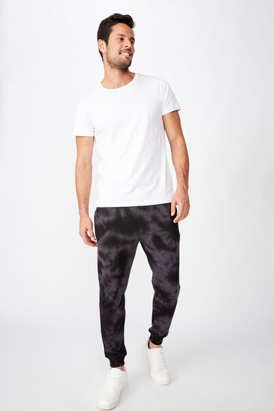 Trippy Slim Trackie, BLACK TIE DYE
