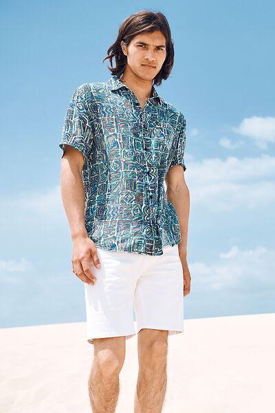 91 Short Sleeve Shirt, STATIC TRIBAL