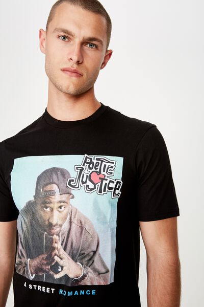 Tbar Collab Movie And Tv T-Shirt, LCN SO SK8 BLACK/POETIC JUSTICE - A STREET ROMANCE