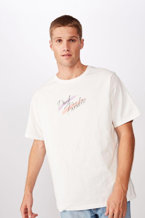Tbar Art T-Shirt, SK8 VINTAGE WHITE/DARK PARADISE AIRBRUSH