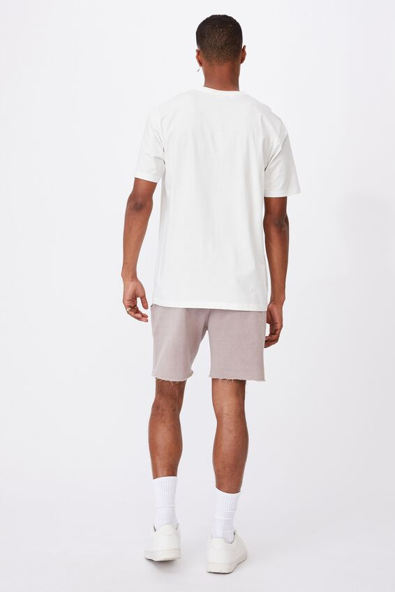 Tbar Text T-Shirt, VINTAGE WHITE/2020 FLOWER