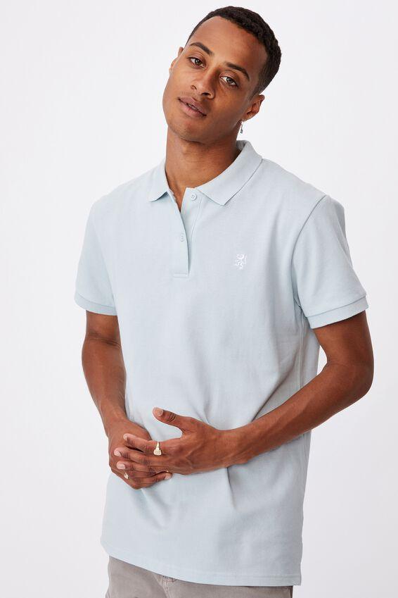 Essential Short Sleeve Polo, LIGHT BLUE