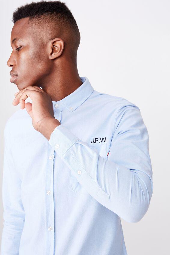 Personalised Brunswick Shirt 3, SKY BLUE OXFORD