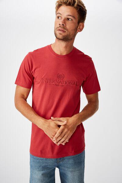 Tbar Cny T-Shirt, RACE RED/INTERNATIONAL CREST