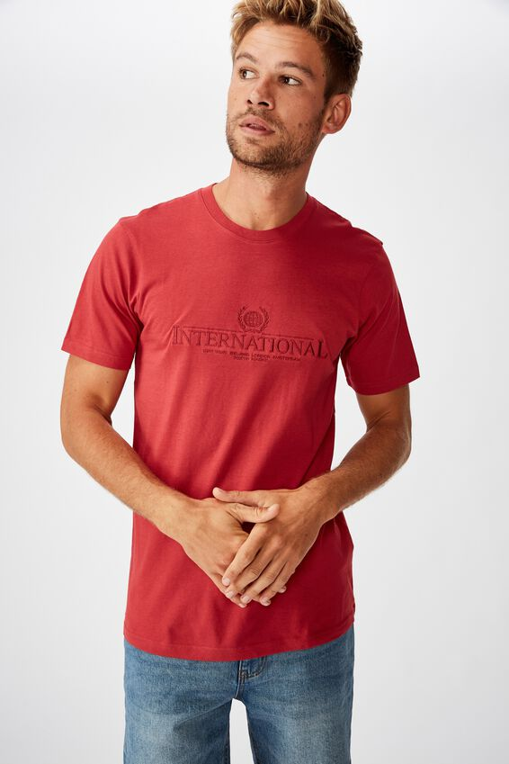 Tbar Cny T-Shirt, RACE RED/INTERNATIONAL CREST