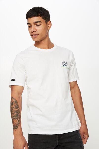 Tbar Collab Star Wars T-Shirt, LCN DIS WHITE/STAR WARS LUKE SKYWALKER MANGA