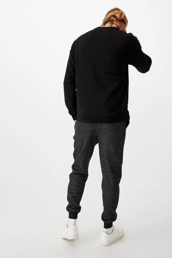 Trippy Slim Trackie, BLACK TEXTURE