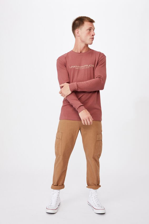 Tbar Long Sleeve T-Shirt, OX BLOOD/UNKNOWN SHIBUYA