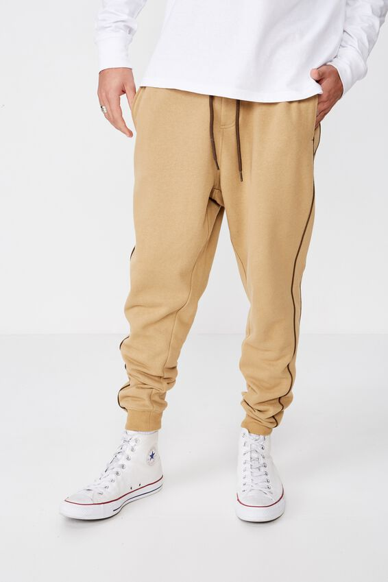 Trippy Slim Trackie, CAMEL / PIPING