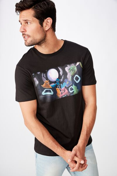 Tbar Collab Movie And Tv T-Shirt, LCN WB BLACK/SPACE JAM - FULL MOON