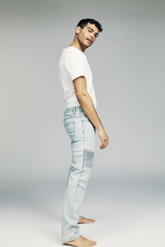 Slim Fit Jean, SLAYER BLUE MOTO